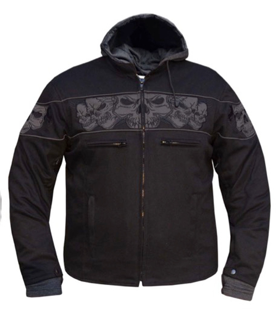 Mens Revolution Gear Denim Skulls Twill Jacket