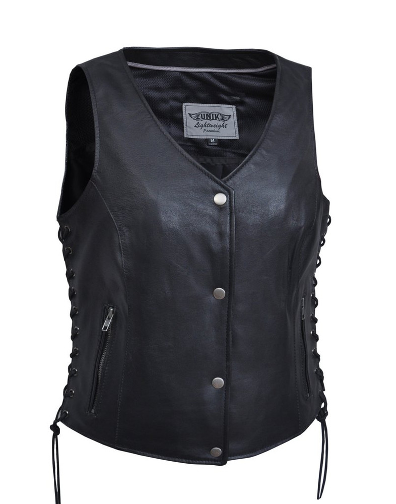 Lightweight Women leather vest