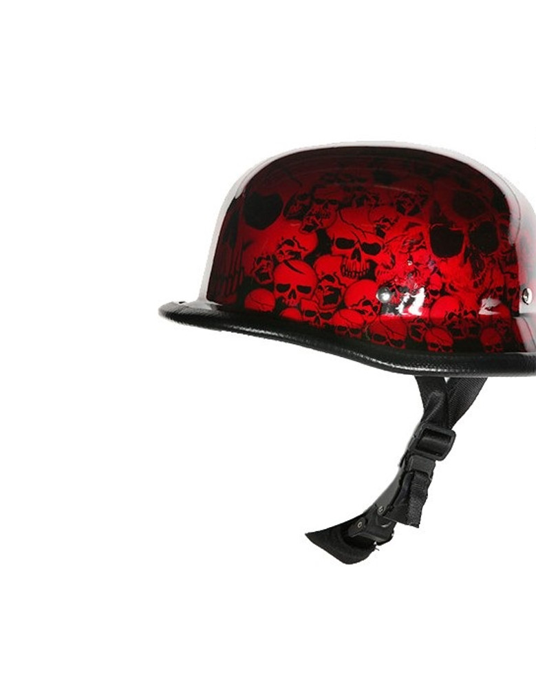 Burgundy Skull  German Novelty Helmet