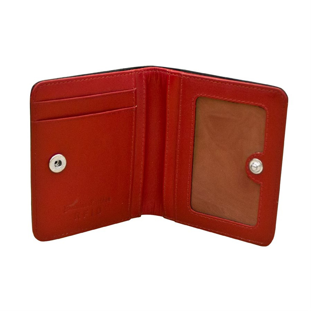 Mini Bi-Fold Wallet with RFID Blocking Lining