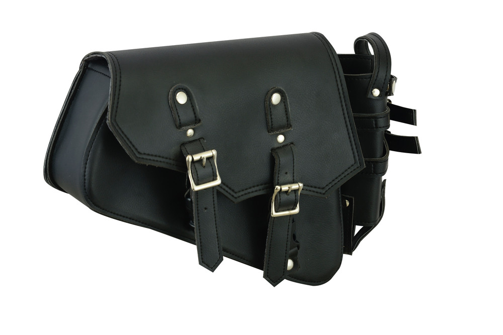 Right Side Synthetic Leather Swing Arm Bag w/Bottle Holder