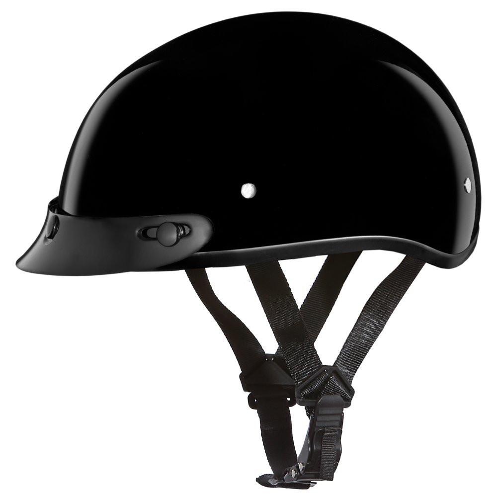 D.O.T. DAYTONA SKULL CAP- HI-GLOSS BLACK