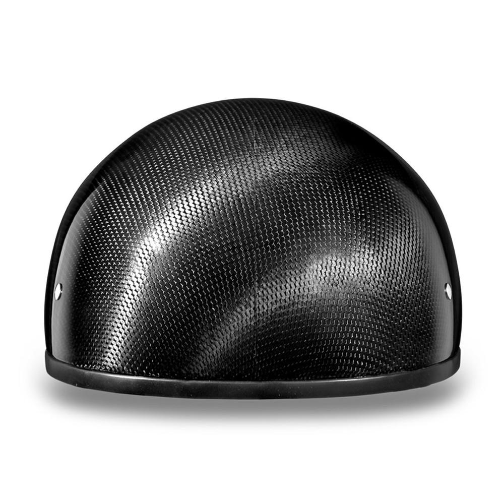 Daytona Skull Cap Slim Line Half Helmet w/o Visor Grey Carbon Fiber