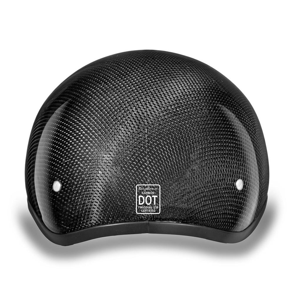 Daytona Skull Cap Half Helmet Grey Carbon Fiber with Visor