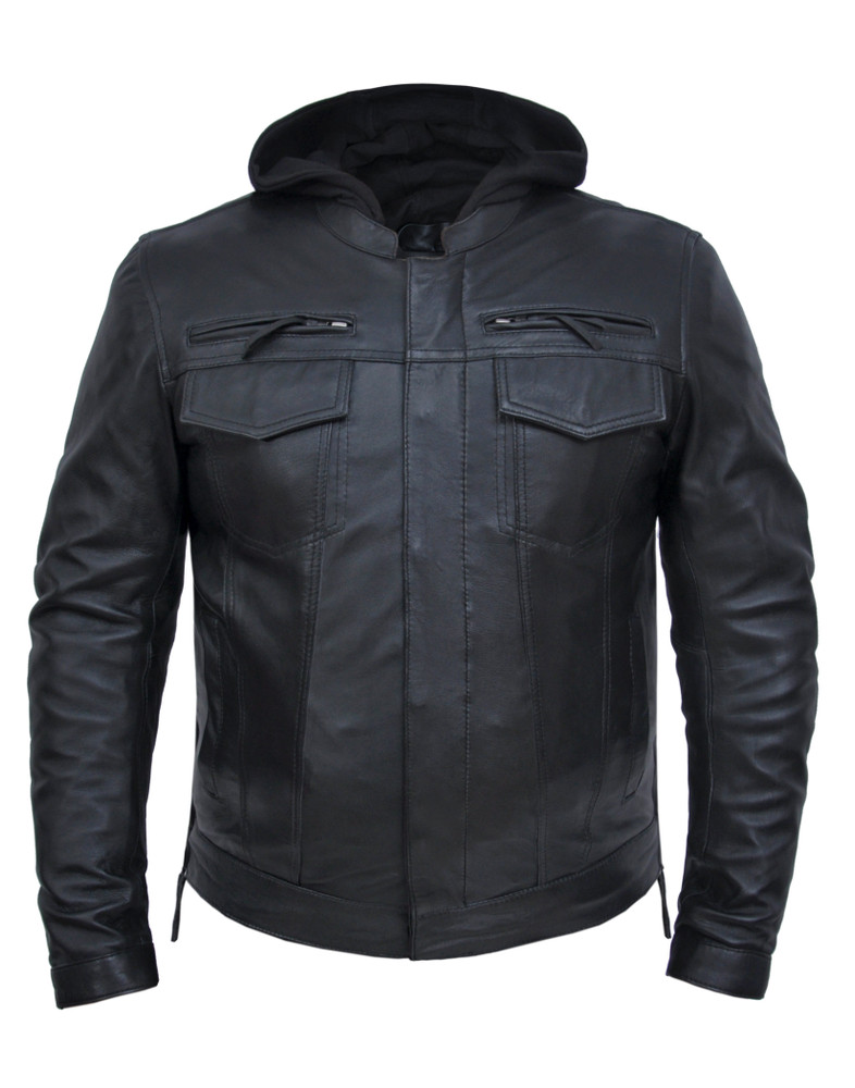 hoody vented jacket with side zips