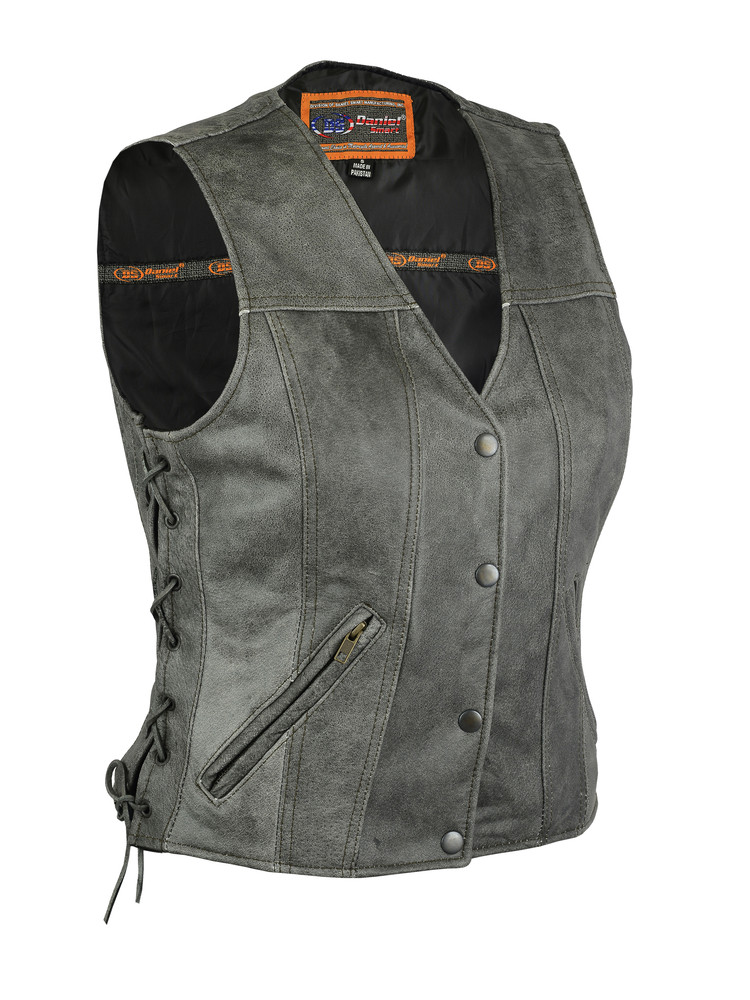 Women's Gray Single Back Panel Vest
