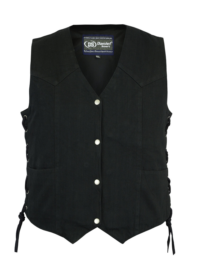 Women's Denim Classic Side Lace Vest