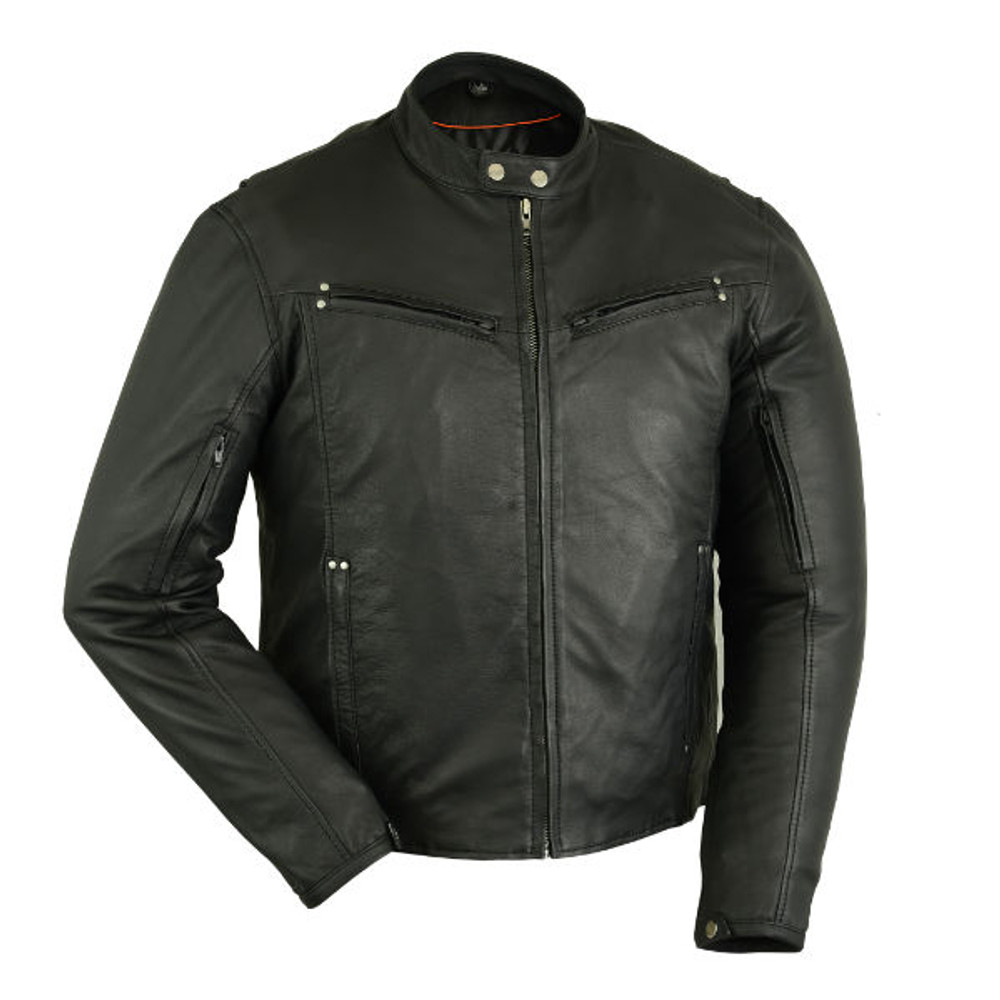 Men's Lightweight Drum Dyed Naked Lambskin Jacket