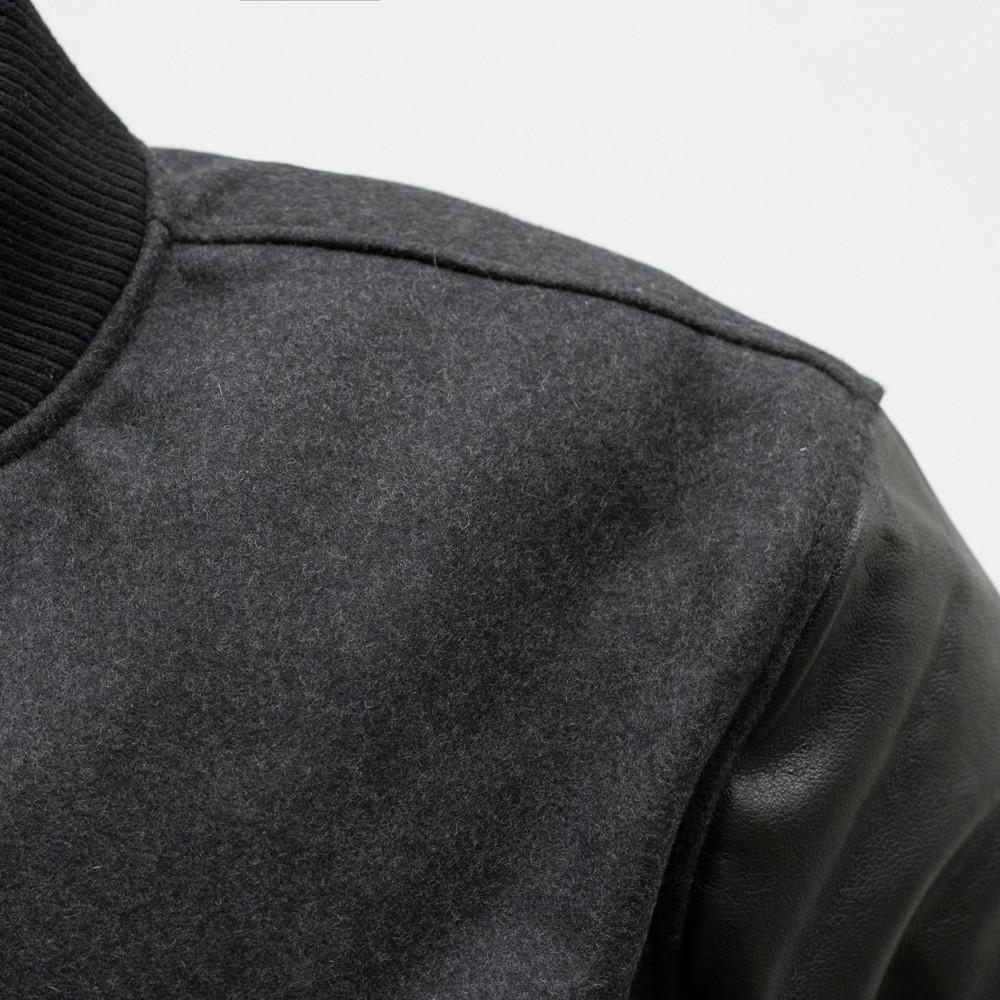 Men Leather Sleeves Varsity Jacket