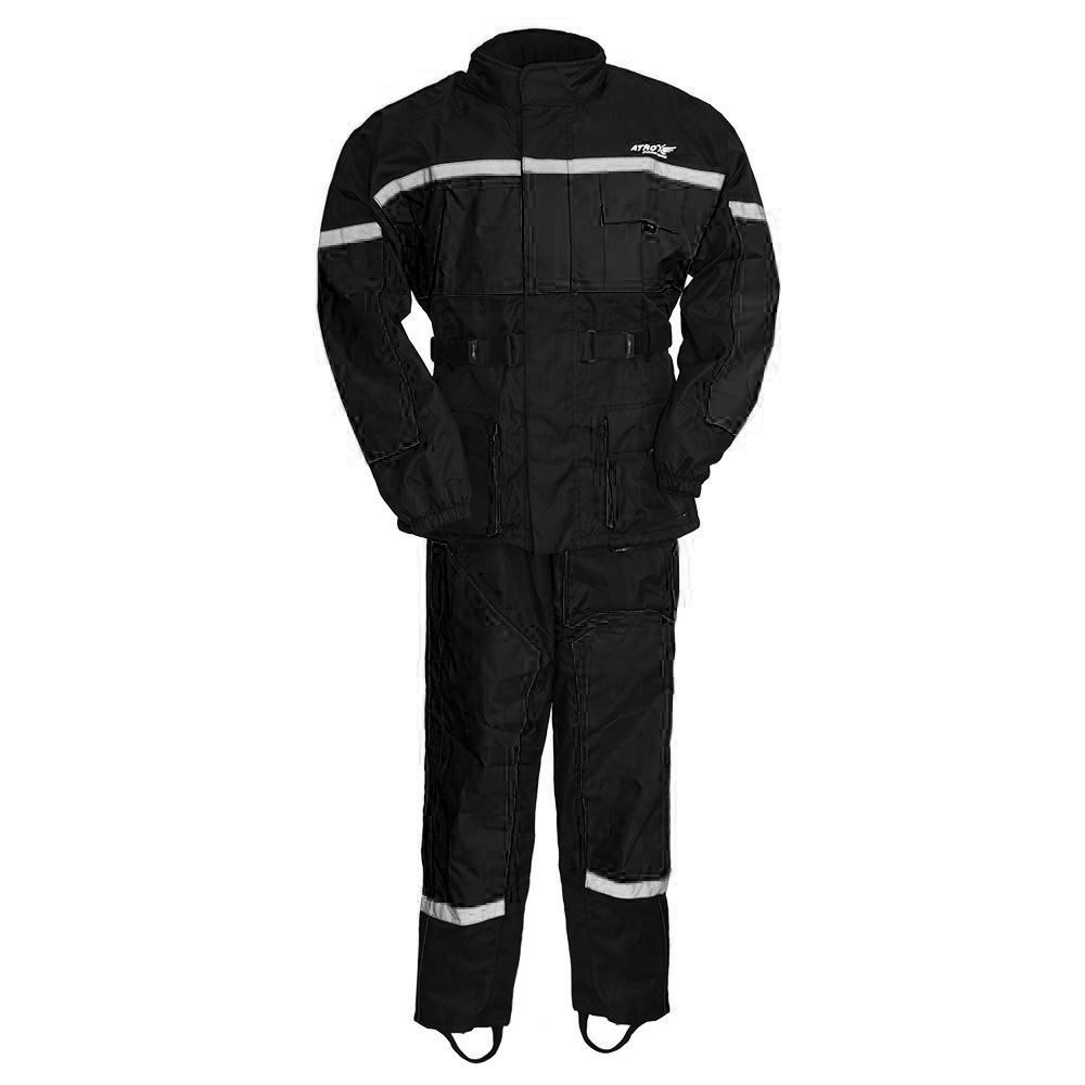 MEN'S BLACK RAIN SUIT HIGH VISIBILITY