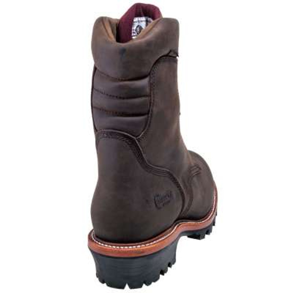 """Chippewa Non-Insulated  Waterproof Super Logger 9"""" Work Boots -  Steel Toe Brown"""