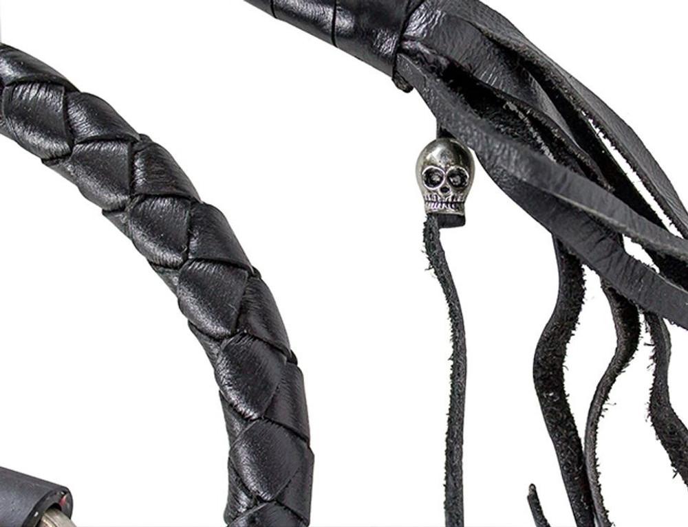 Black Leather Biker Motorcycle Get Back Whips