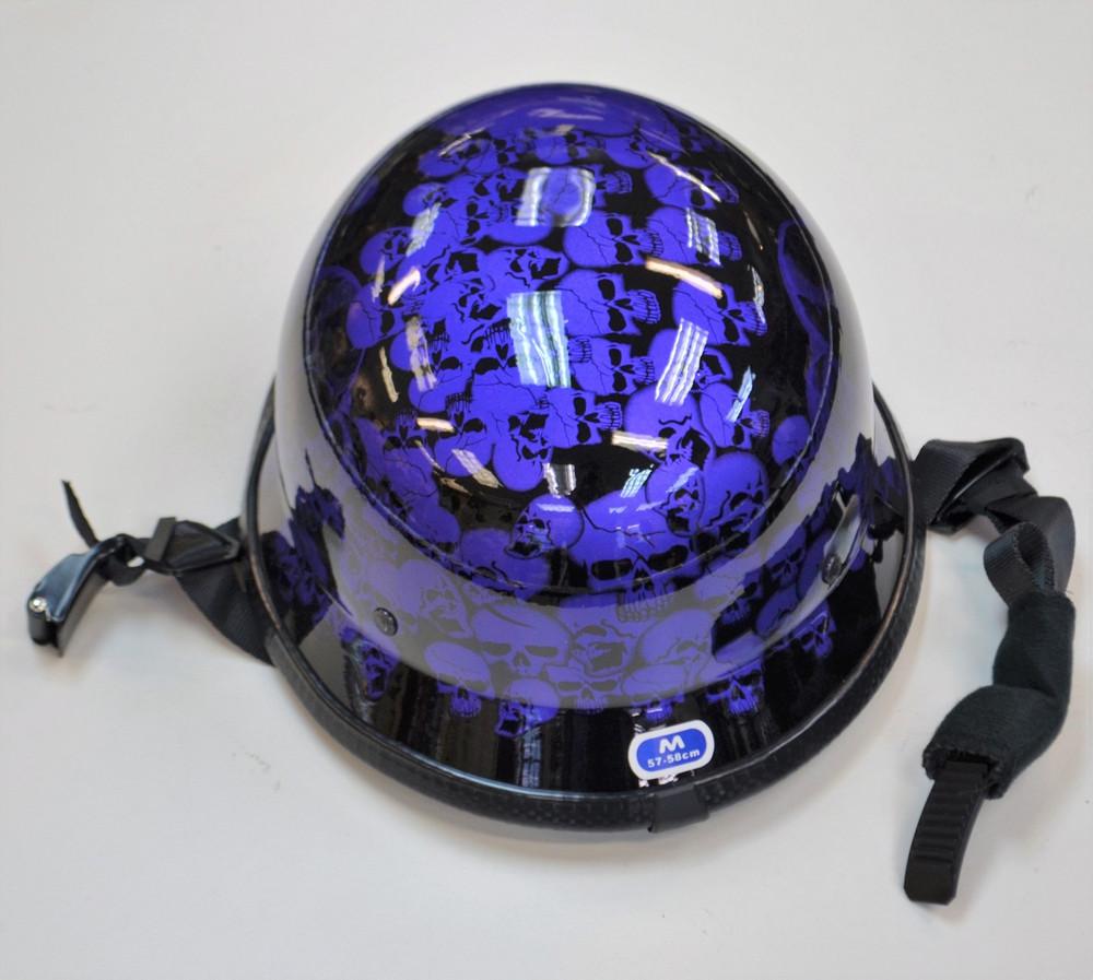 Purple Skull German Novelty Helmet