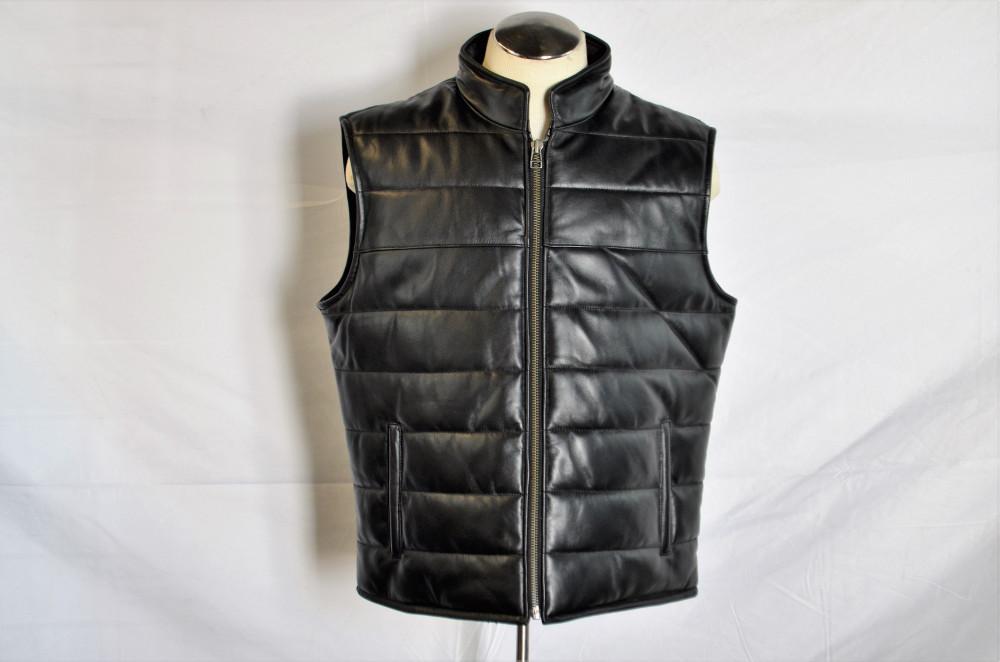 Men Leather Buble Vest