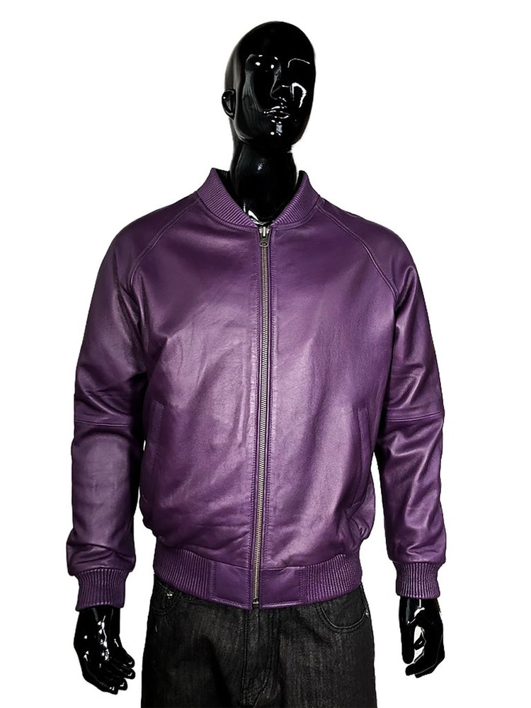 All Leather Bomber Varsity Jacket  colors
