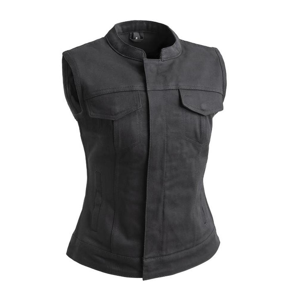 Lexy - Women's Motorcycle Twill Vest