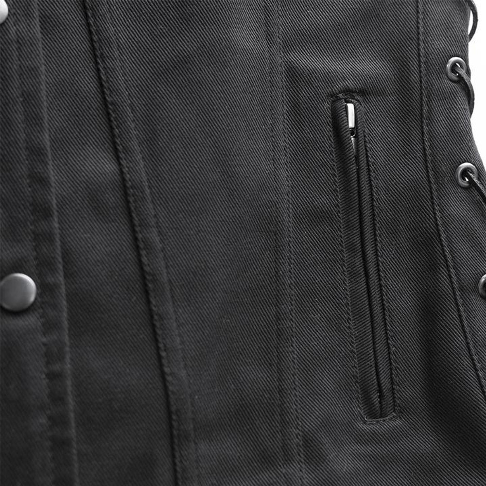 Tiff- Women's Motorcycle Twill Vest