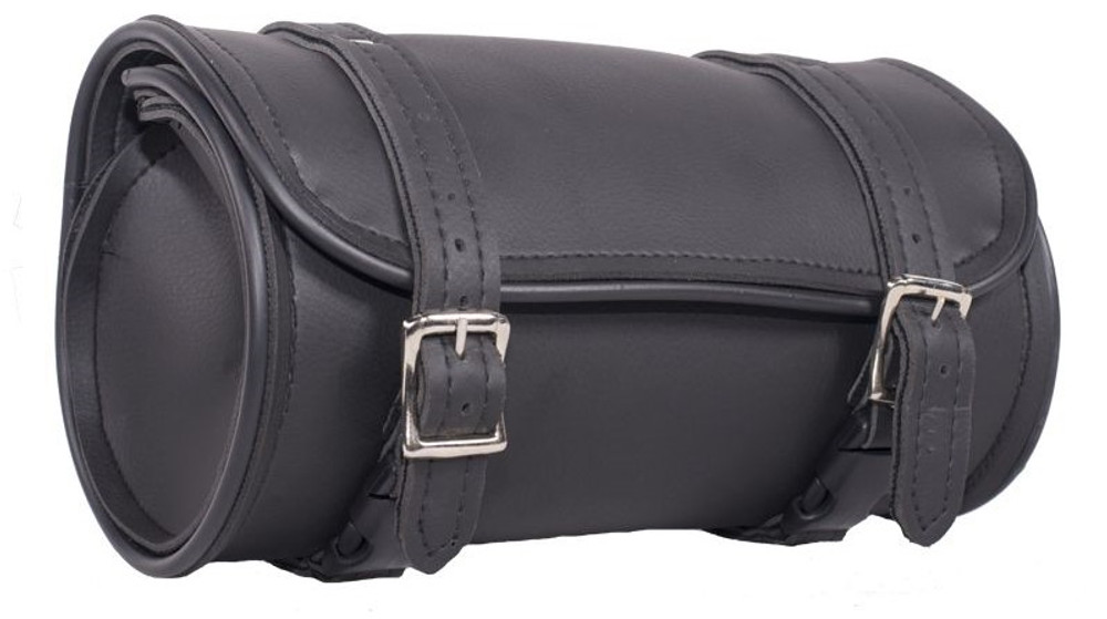 """10"""" Plain PVC Motorcycle Tool Bag With 2 Roller"""