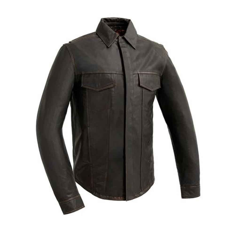 Maduro-Vintage  Men's Motorcycle Leather Shirt
