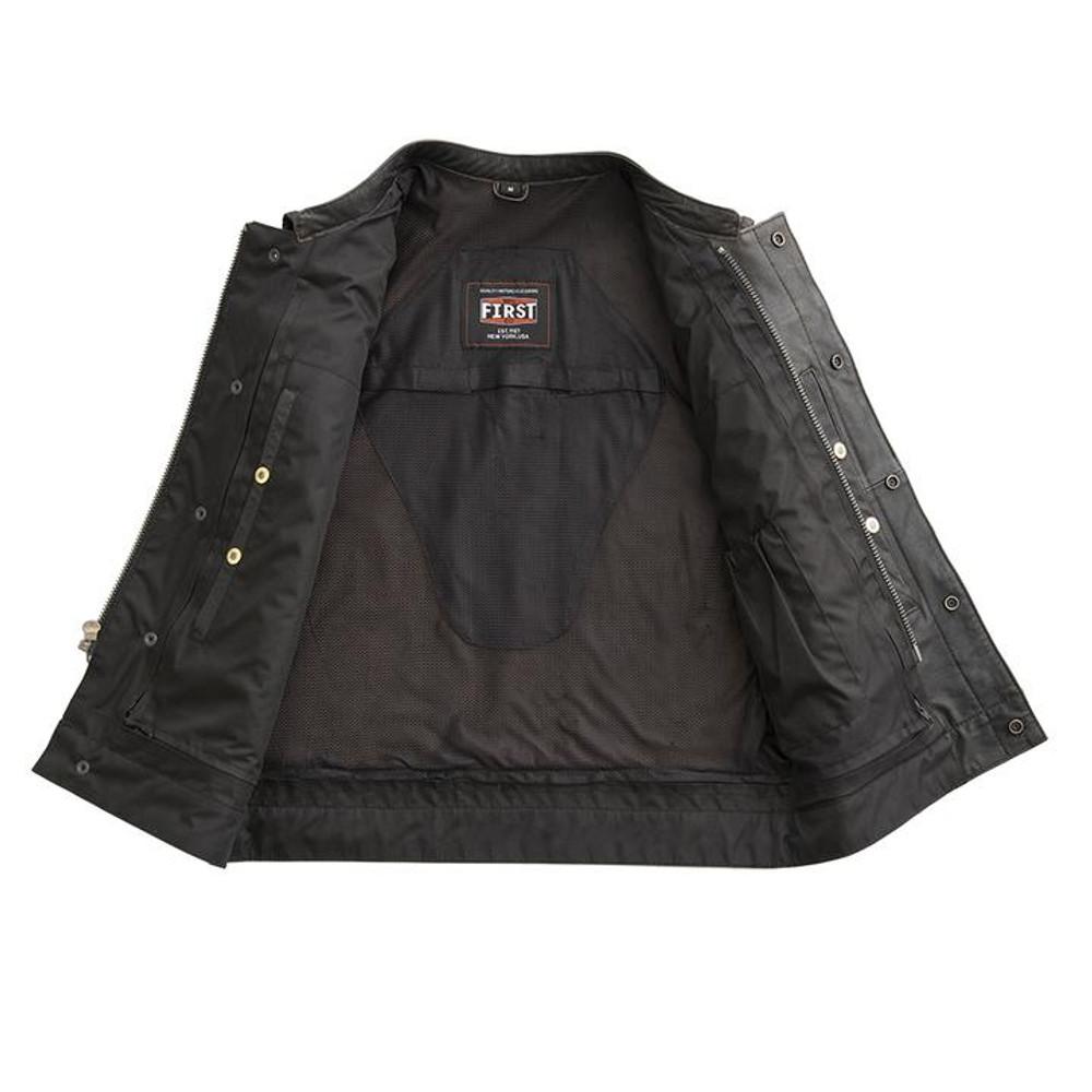 Sharp Shooter - Men's Biker Leather Vest Antique look