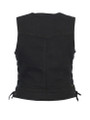 Women's Stylish Black Denim Vest