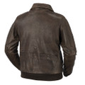 men distressed  bomber leather