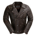 Brooklyn  blackish/ Brown  Moto Inspired Lather Jacket