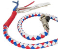 Red White  Blue Leather  Biker Motorcycle Get Back Whips