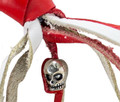 Red & White Leather Biker Motorcycle Get Back Whips
