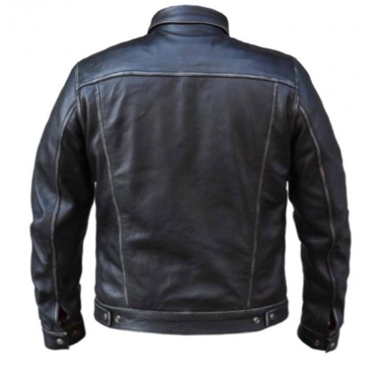 Leather Jean Style Jacket