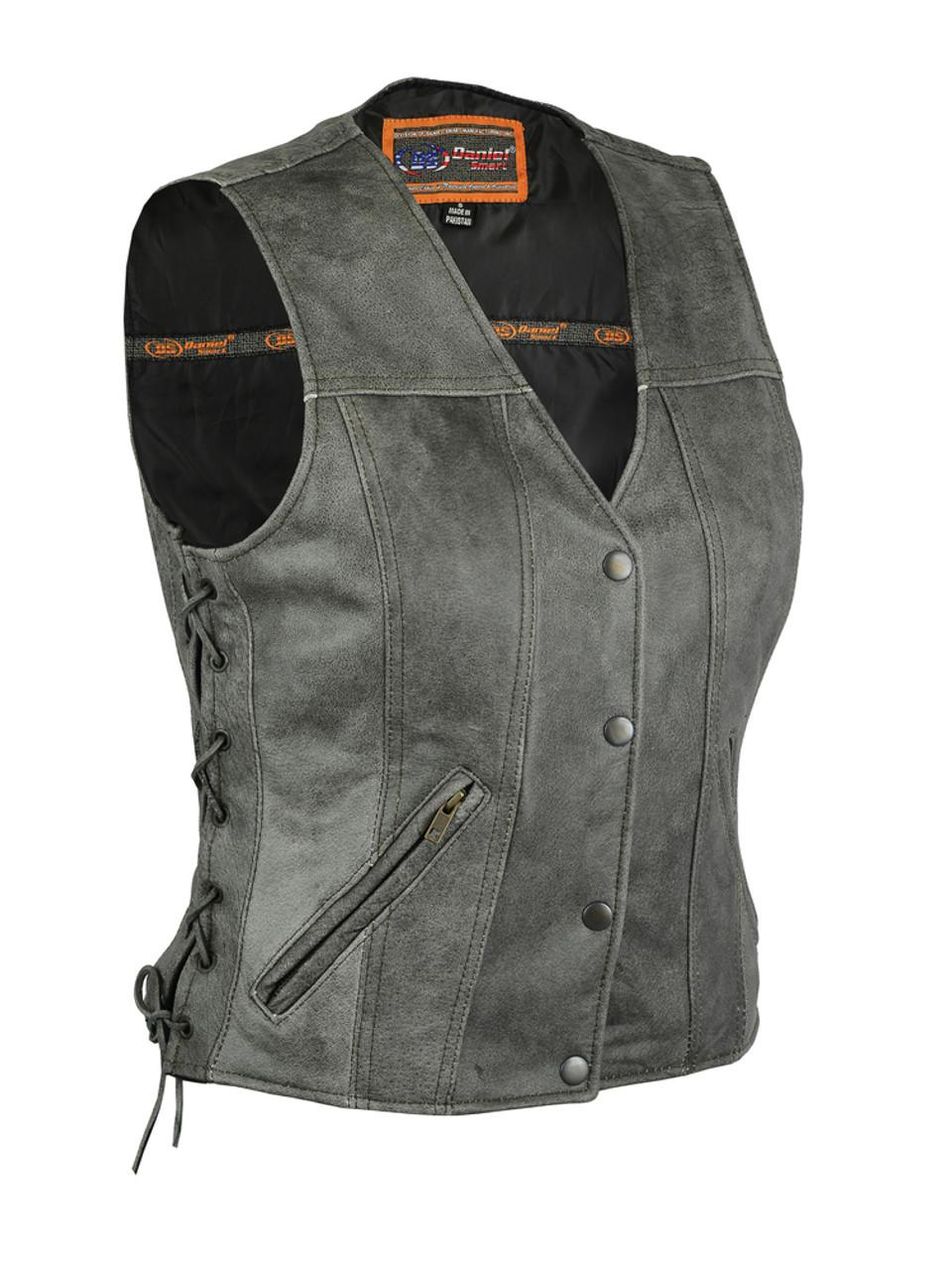 Women's Gray Single Back Panel Vest