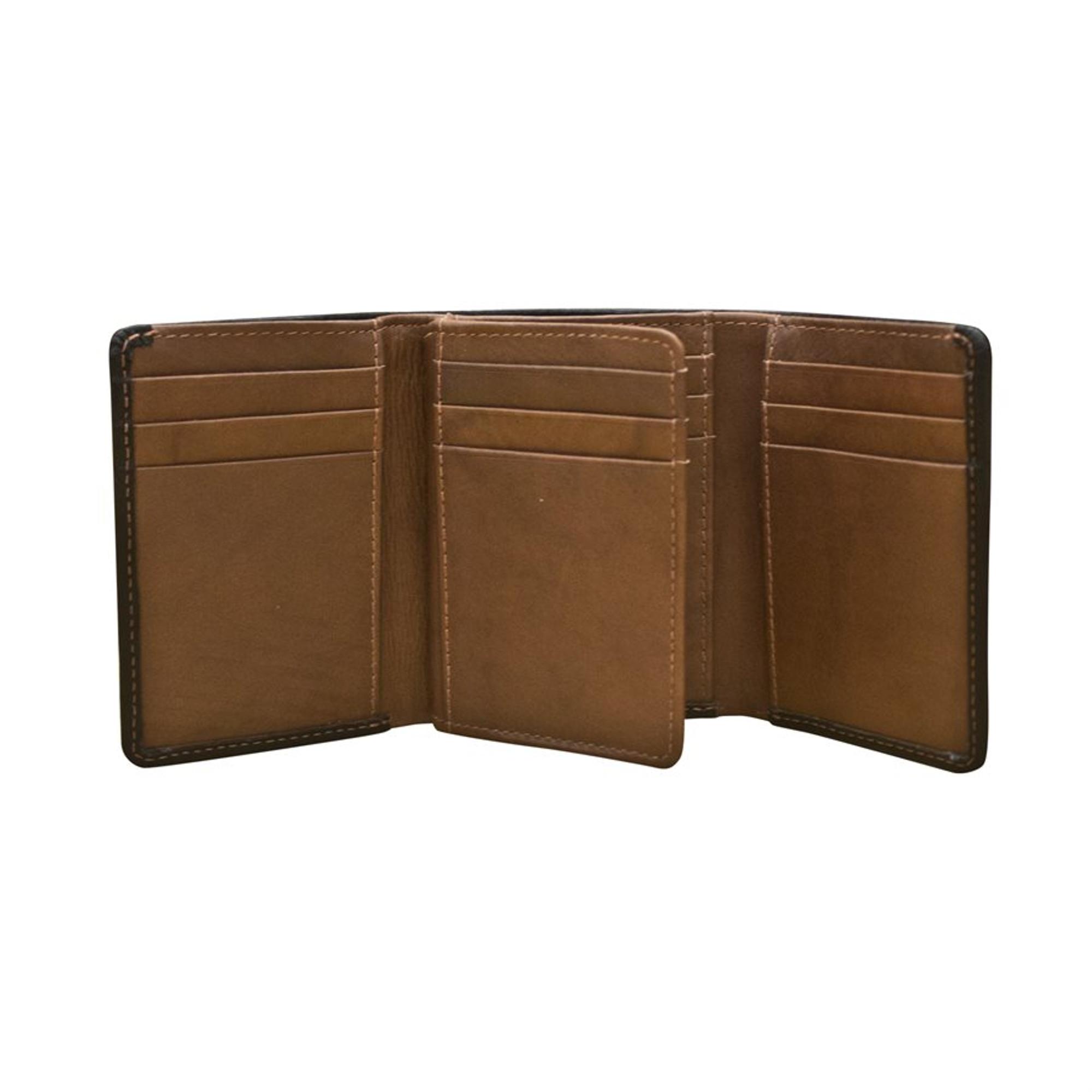8 Credit Card Pockets Three Additional Slip Pockets Wallet 1504