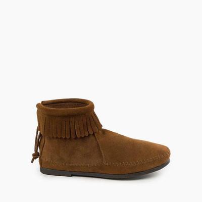 Women Back Zip Hardsole Boots