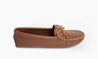 Men Minnetonka Men Double Deerskin Softsole