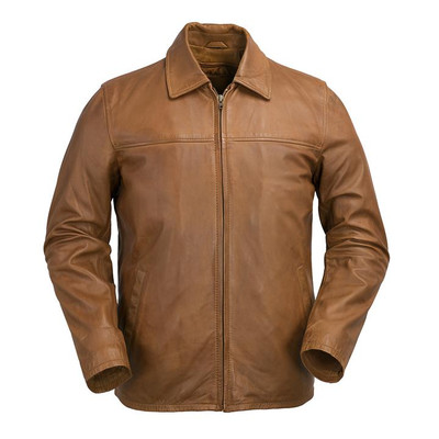 Men classic Leather open buttom