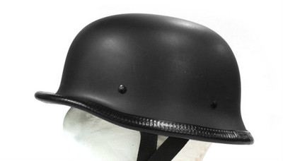 German flat black helmet