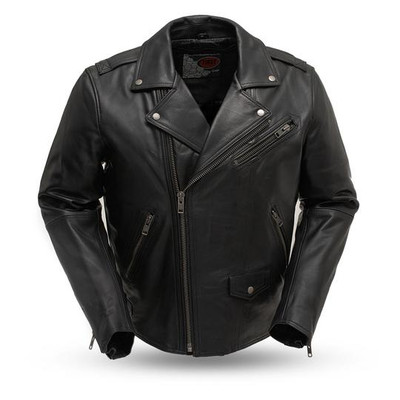 Enforcer Classic Cruiser-Men's Leather Motorcycle Jacket