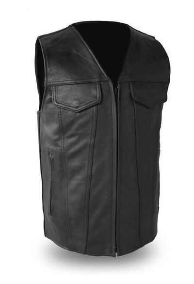 Badlands Men's Motorcycle Leather Vest
