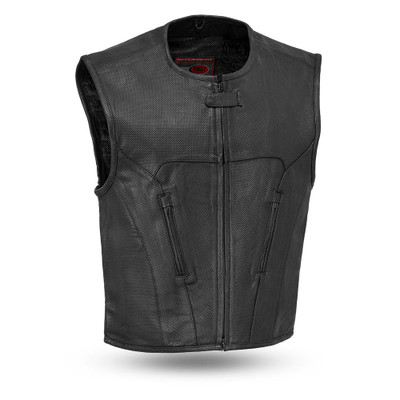 Raceway Men's Motorcycle Leather Vest