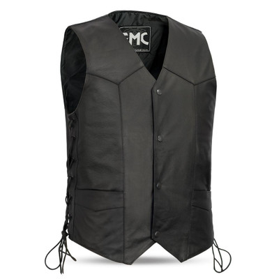 Carbine Men's Motorcycle Leather Vest