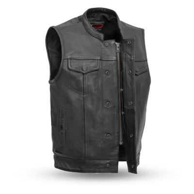 Sharp Shooter Men's Motorcycle Leather Vest