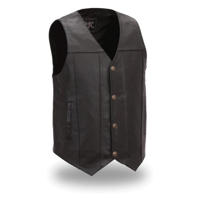 Gun Runner Men's Motorcycle Leather Vest
