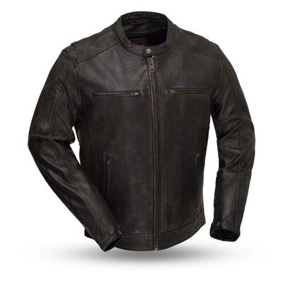 Hipster Men's Leather Motorcycle Jacket