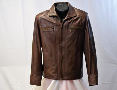 Men Light Weight Leather Jacket
