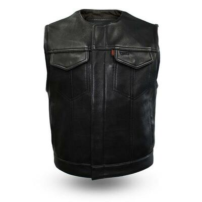 Lowside Men's Motorcycle Leather Vest