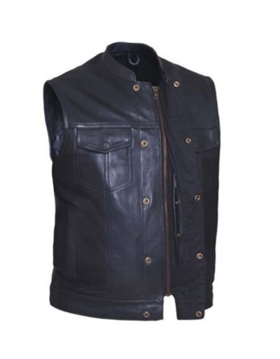 Men's top grain cowhide Club Vest