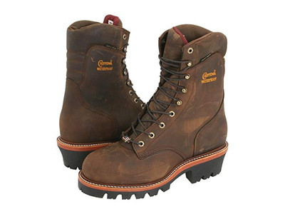 """Chippewa Insulated Waterproof Super Logger 9"""" Work Boots - Steel Toe Brown"""