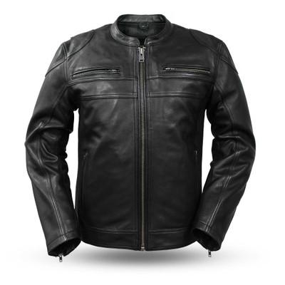 Nemesis Men's Leather Motorcycle Jacket