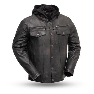 Vendetta Men's Leather Motorcycle Jacket