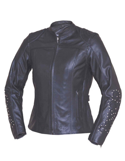 LADIES ANGEL WINGS LEATHER JACKET